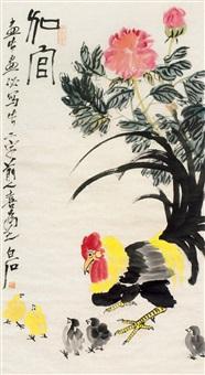 加官厚禄 立轴 设色纸本 by qi baishi