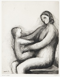 mother and child xiii by andré masson
