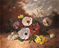 paisaje con flores by david emile joseph de noter