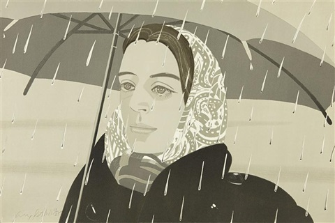 grey umbrella by alex katz