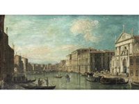 the grand canal, venice, with the church of san stae in the foreground by bernardo bellotto