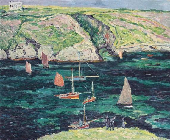 bateaux à port-goulphar, belle-ile en mer by maxime maufra