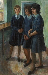 pupils at erith school, kent by frederick stonham