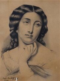 portrait of a woman by karl pavlovich bryullov
