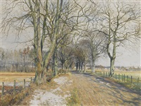 the road to the mains, benvie, angus by james mcintosh patrick