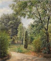 perchtoldsdorf. garden view 1880 by marie ertl