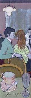 les amoureux au café by simon simon-auguste