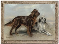 the gundogs - two well-behaved setters by marion rodger hamilton harvey