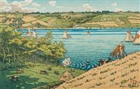 le trieux à kermarie, pl.15 (from beau pays de bretagne) by henri rivière