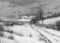 winter landscape by edward grenet