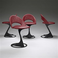 tabourettli theater chairs (set of 4) by santiago calatrava