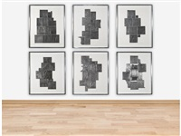 lead intaglio series (set of 6) by louise nevelson