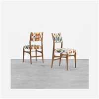 pair of leggera chairs from the royal hotel, naples by gio ponti