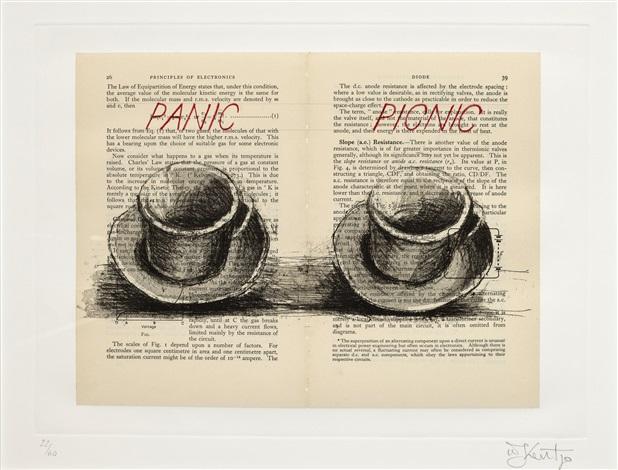 panic/picnic (from sleeping on glass) by william kentridge