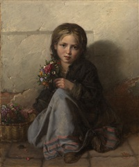 little flower seller by nikolai y. rachkov