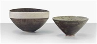 two bowls (1 works) by lucie rie