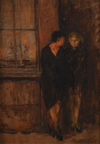 deux femmes au port d'anvers by walter vaes