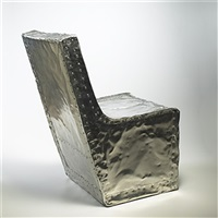 hammered chair by shlomo harush