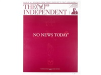 the independent (red) by damien hirst
