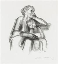 arbeiterfrau mit schlafendem jungen by käthe kollwitz