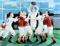 le match de rugby by karl gustavsen