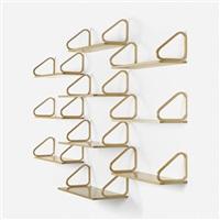 collection of ten wall shelves by alvar aalto
