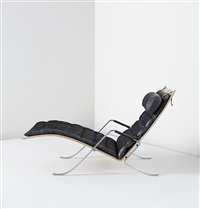 grasshopper chaise longue, model no. fk-87, designed by preben fabricius and jørgen kastholm
