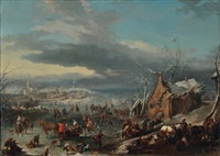 l'estate and l'inverno (pair) by jan-peter van bredael the younger