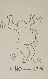 pregnant woman by keith haring