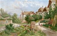 bachgasse in weißenkirchen by alois toldt