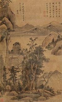 山水云居图 by zhou chen