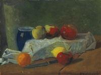 nature morte aux pommes et citrons by paul sérusier
