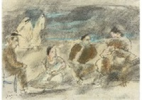 tunisian beach by jules pascin