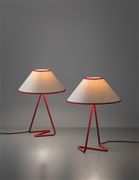 flic flac table lamps (pair) by jean royère