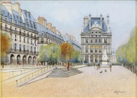 les tuileries rue de rivoli by h. rolf rafflewski