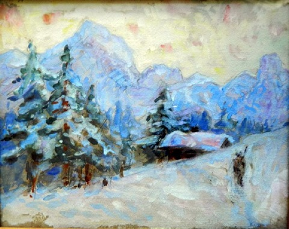 towards weisshorn switzerland by john peter russell