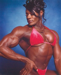 bodybuilders (lesa lewis) by andres serrano