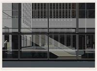 manhattan (horizontal ul 3 escalator) (from urban landscapes iii) by richard estes