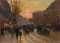 le boulevard le la madeleine animé by edouard léon cortès