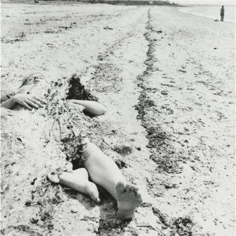 providence rhode island self portrait in the sand by francesca woodman