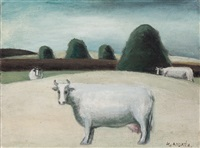 white cow by kees andrea