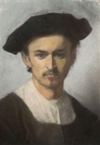 autoportrait présumé de l'artiste by edouard moyse