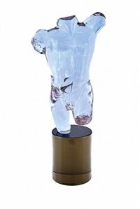 amethyst glass torso by ermanno nason