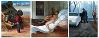 a matter of inheritance (triptych) by vincent desiderio