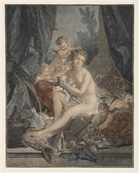 la toilette de vénus (after boucher) by jean françois janinet