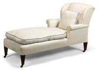 chaise lounge by howard & sons