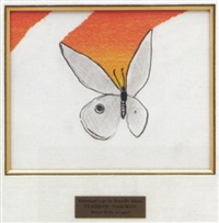 rabbithead logo in the form of a butterfly by vladimir nabokov