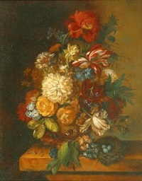 still life with flowers by francois gabriel