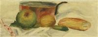 poêlon et fruits by pierre-auguste renoir
