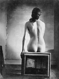 black study of nude by peter rose pulham